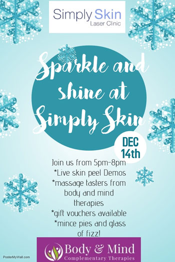Sparkle & Shine Christmas Event at Simply Skin Oldham